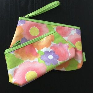 Clinique Floral Makeup Bags